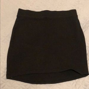 Black cotton pencil skirt
